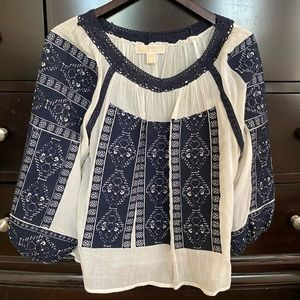 Michael Kors embroidered blouse